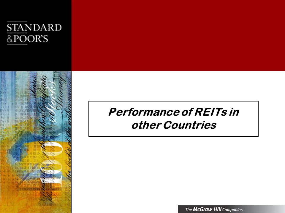 Performance of REITs in other Countries
