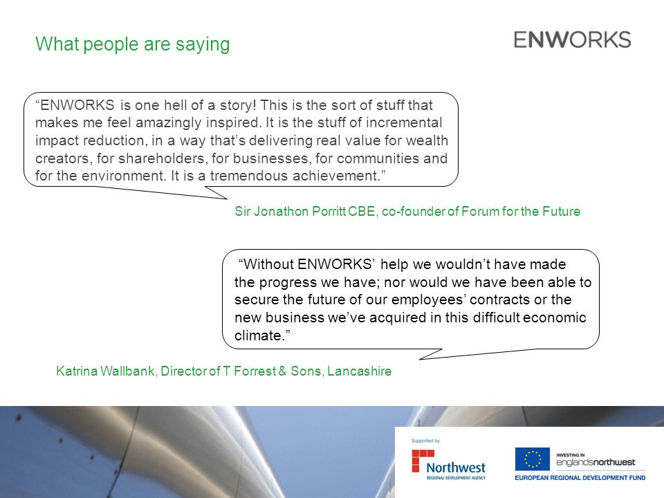 What people are saying ENWORKS is one hell of a story.