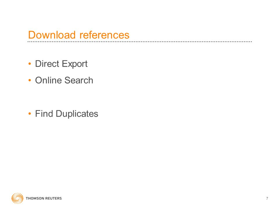Download references Direct Export Online Search Find Duplicates 7