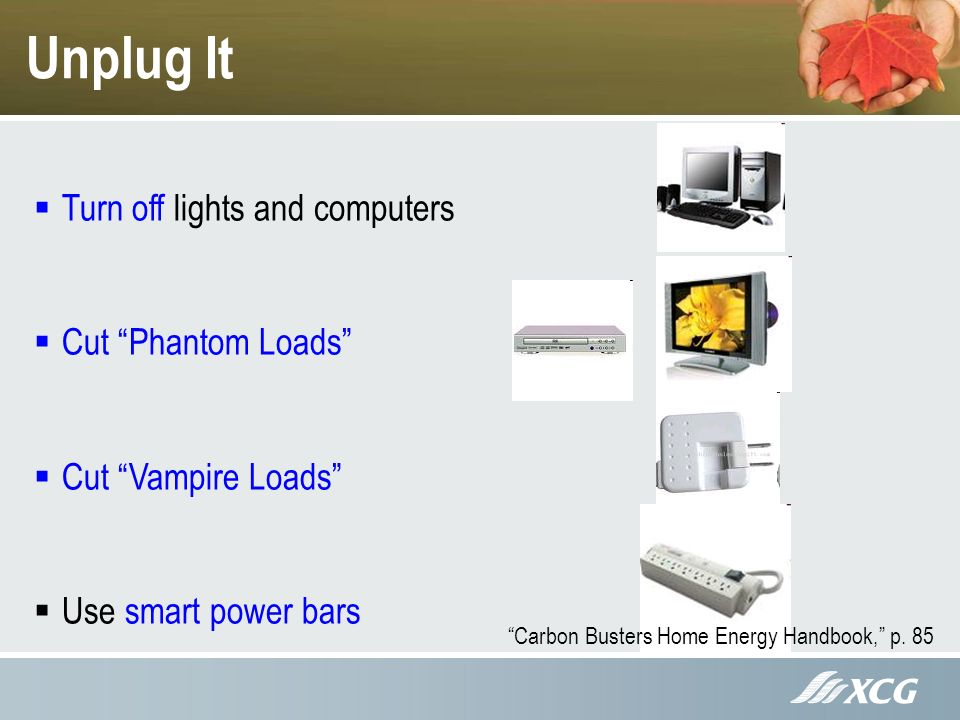 Unplug It Carbon Busters Home Energy Handbook, p.