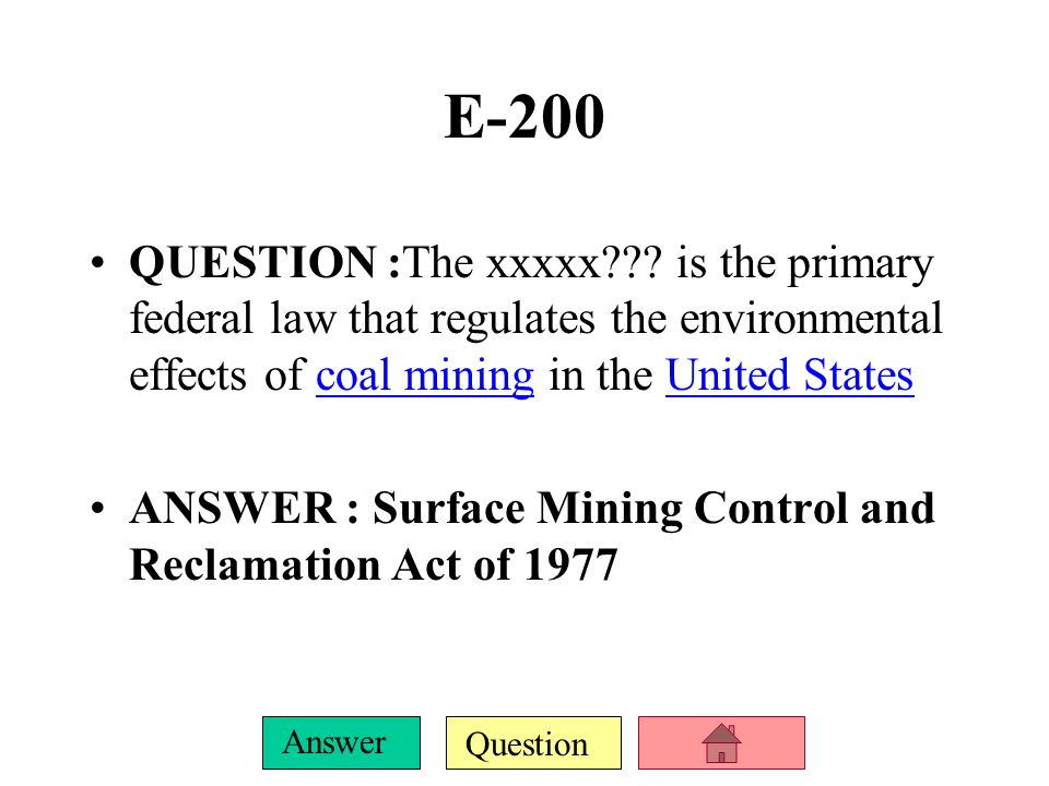 Question Answer E-100 QUESTION : United Nations Conference on the Human Environment (also known as the .