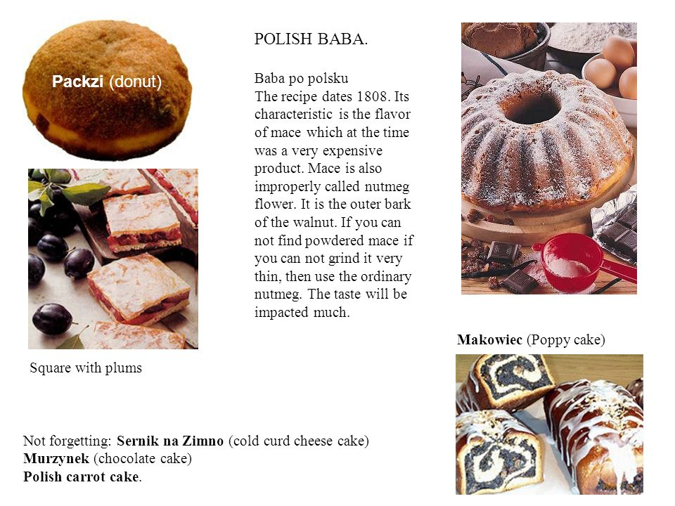 POLISH BABA. Baba po polsku The recipe dates