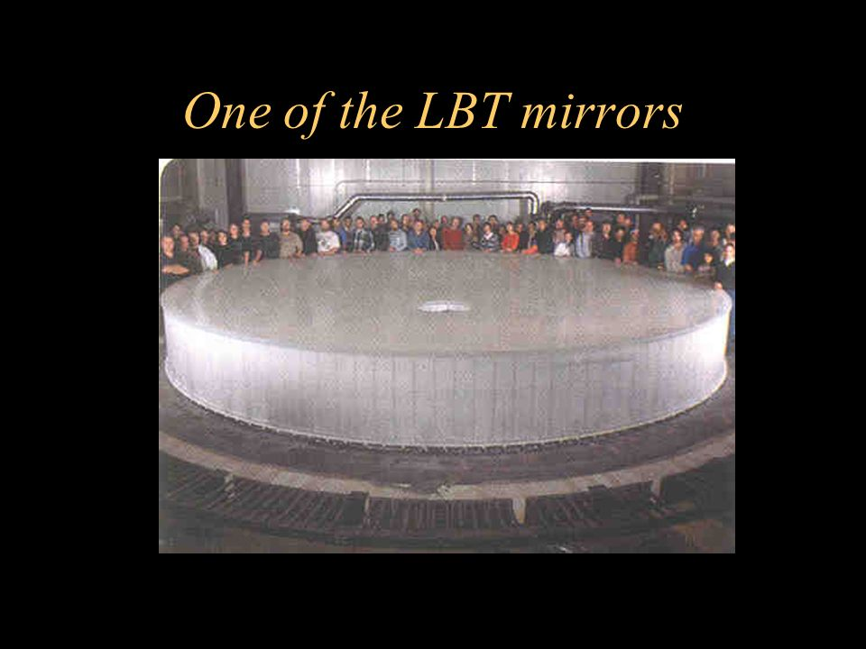 One of the LBT mirrors