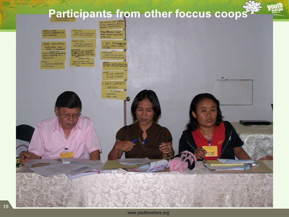 18 Participants from other foccus coops