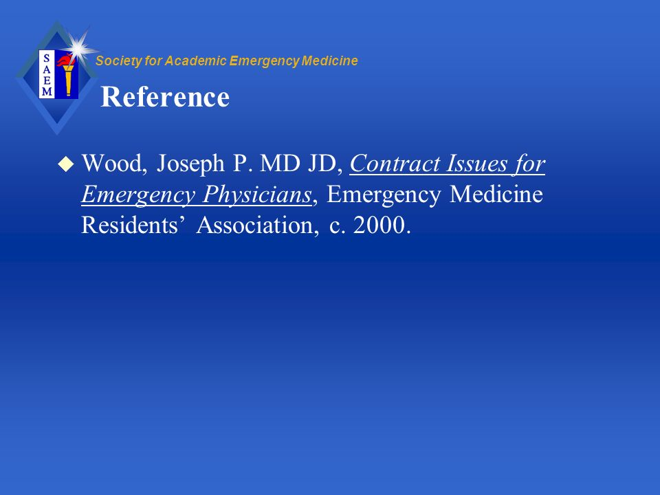 Society for Academic Emergency Medicine Reference u Wood, Joseph P.