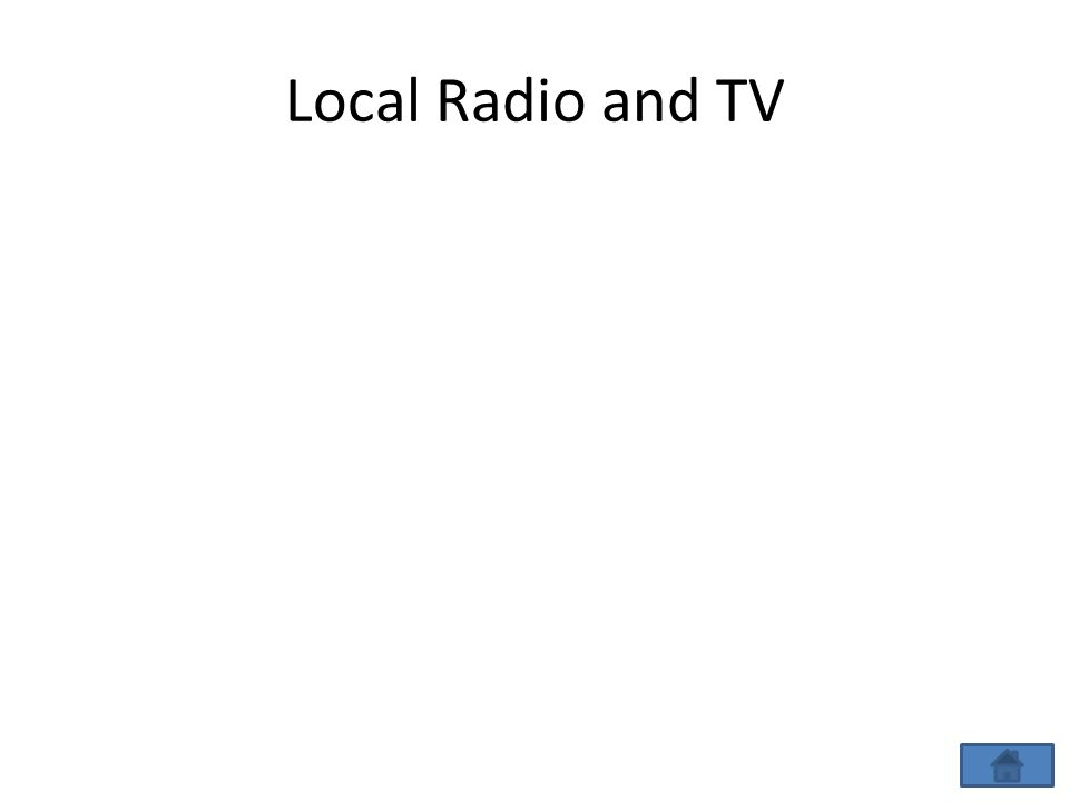 Local Radio and TV