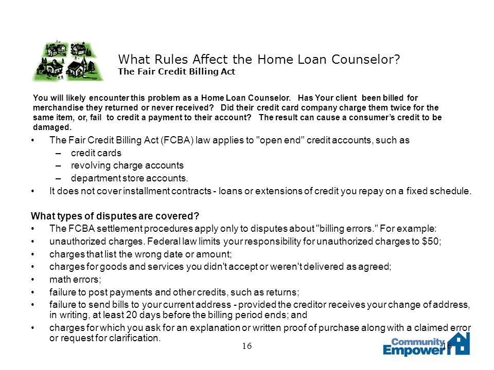 16 What Rules Affect the Home Loan Counselor.