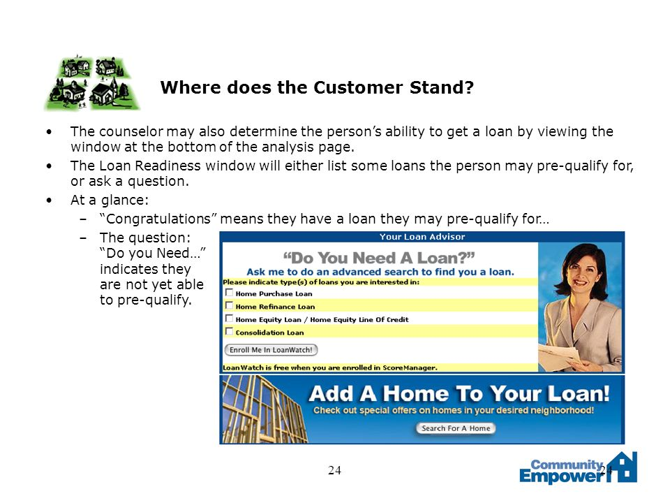 24 Where does the Customer Stand.