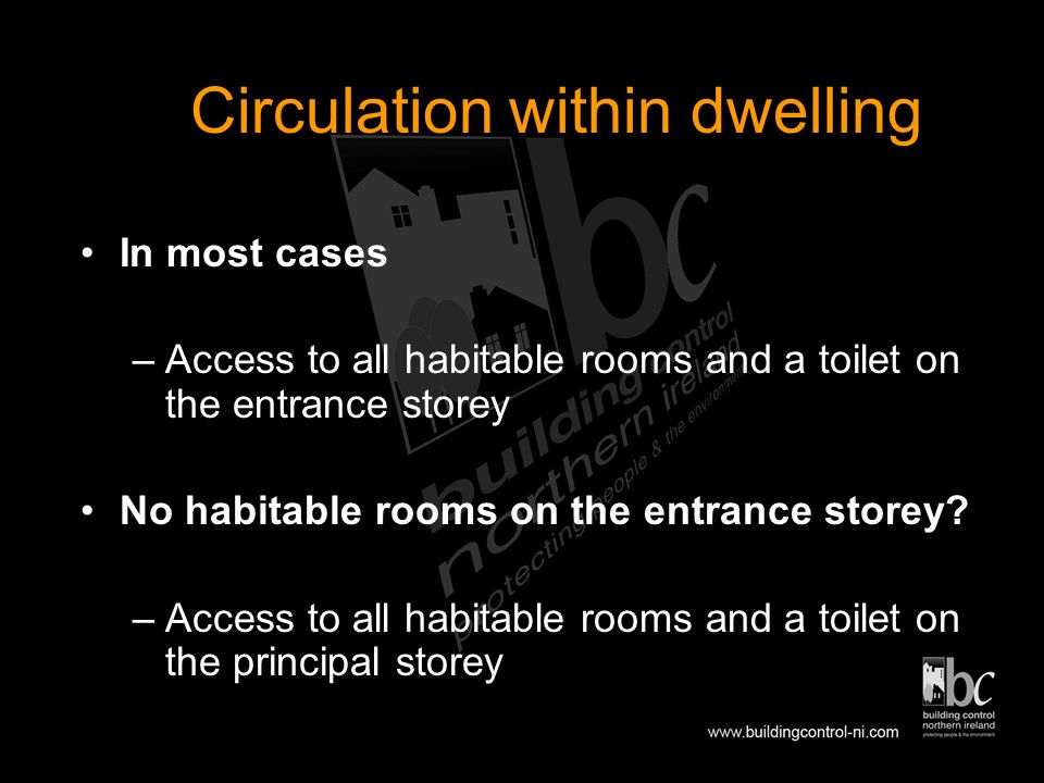 Stage 3 - Horizontal circulation within the dwelling Technical Booklet R 2006 Section 8