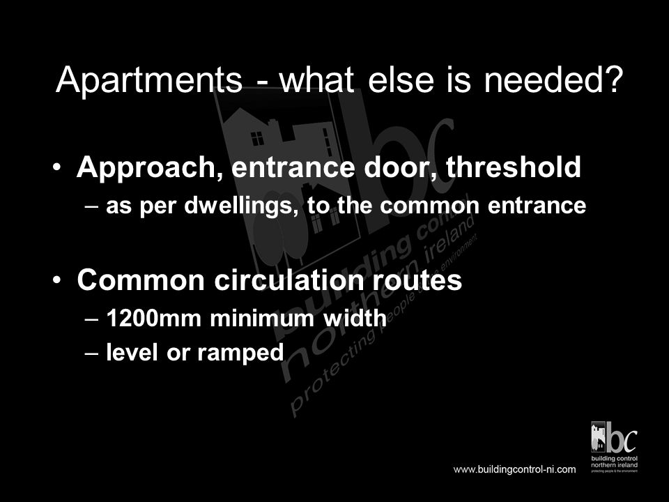 Stage 5 - Common Stairs and Lifts in Apartments Technical Booklet R 2006 Section 9