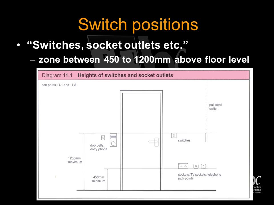 Stage 7 - Heights of switches Technical Booklet R 2006 Section 11