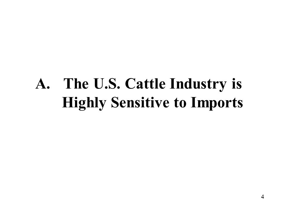 4 A.The U.S. Cattle Industry is Highly Sensitive to Imports