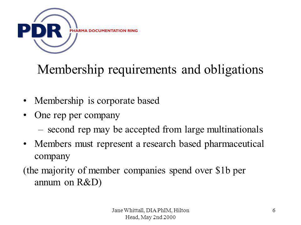 Pharma DocumentationRing (PDR) - driving industry standards