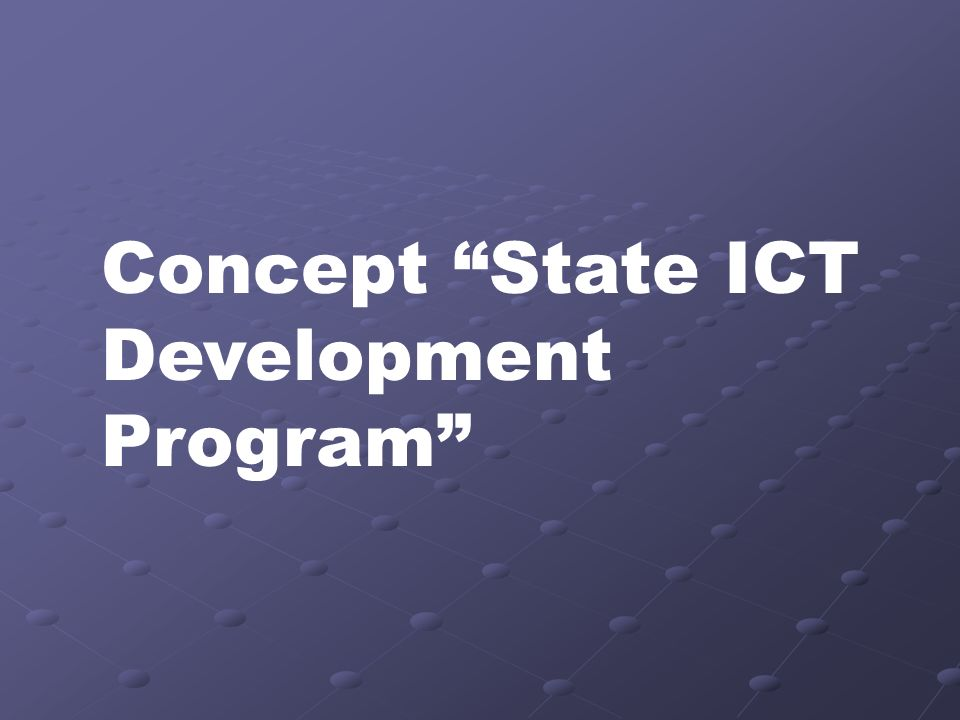 Concept State ICT Development Program