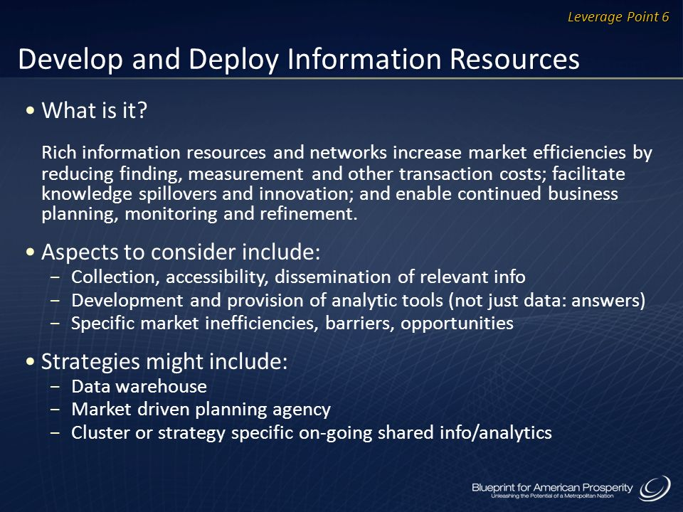 Develop and Deploy Information Resources What is it.