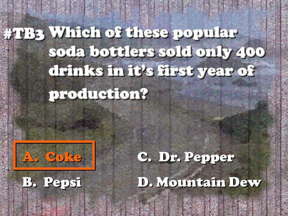 Which of these popular soda bottlers sold only 400 drinks in its first year of production.