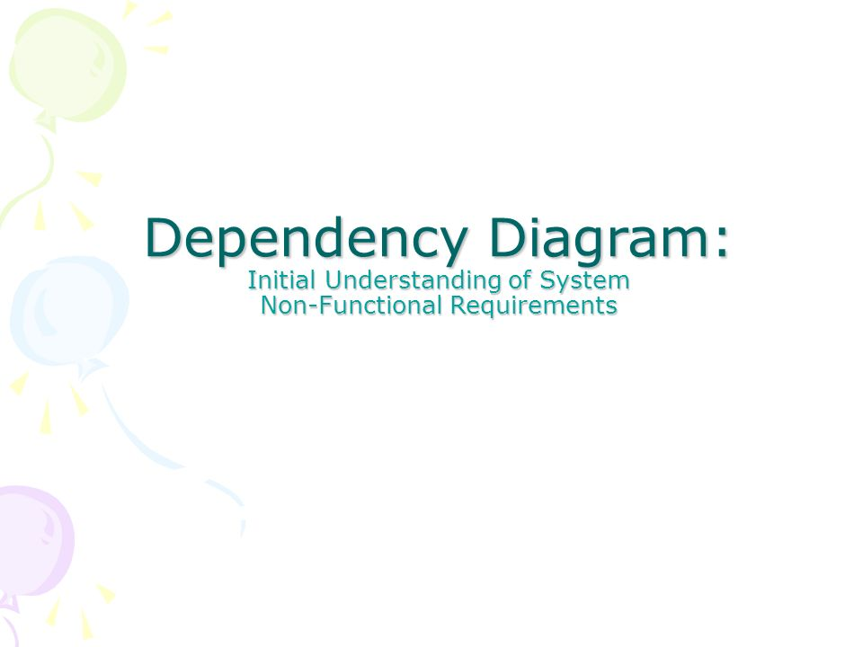 Dependency Diagram: Initial Understanding of System Non-Functional Requirements
