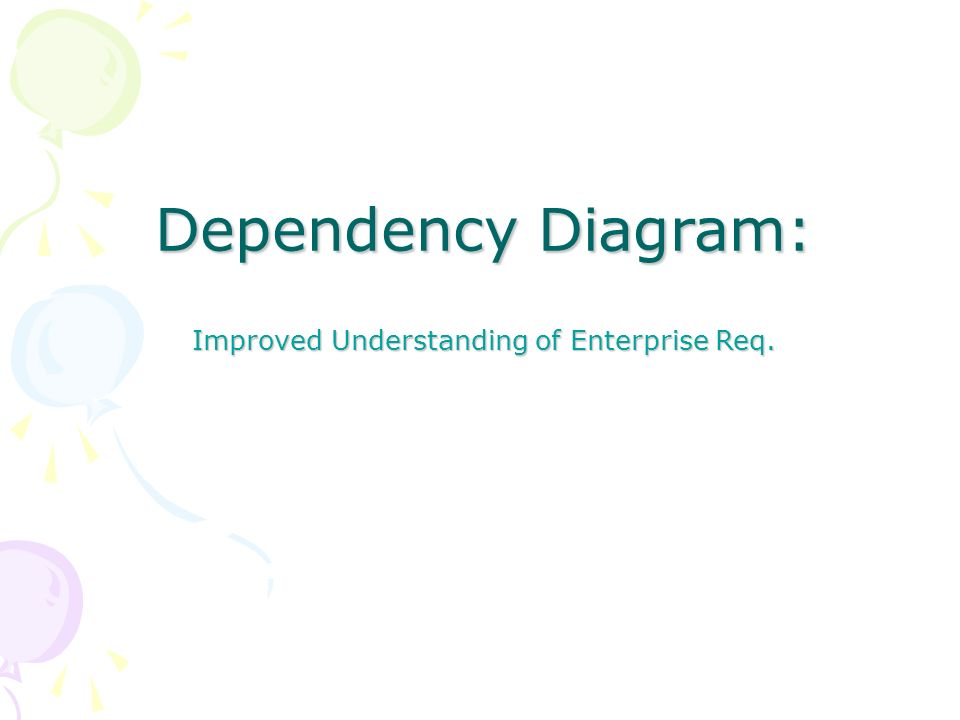 Dependency Diagram: Improved Understanding of Enterprise Req.