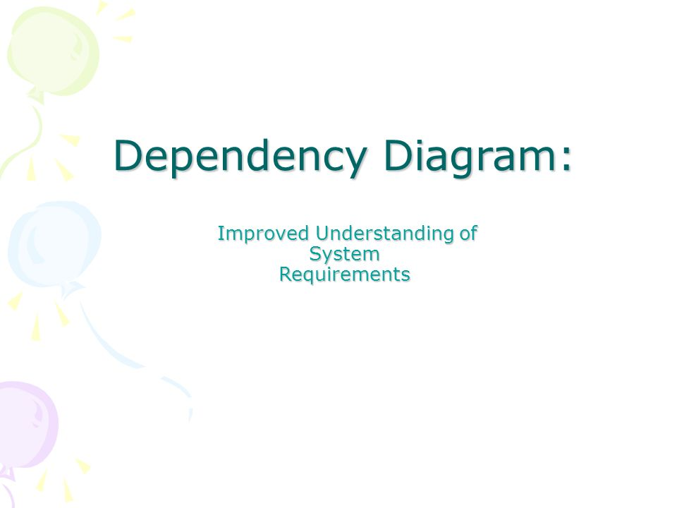 Dependency Diagram: Improved Understanding of Improved Understanding of System Requirements