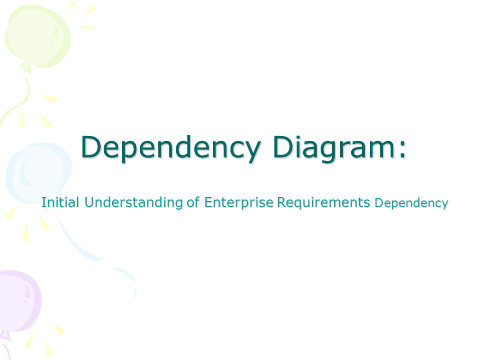 Dependency Diagram: Initial Understanding of Enterprise Requirements Dependency