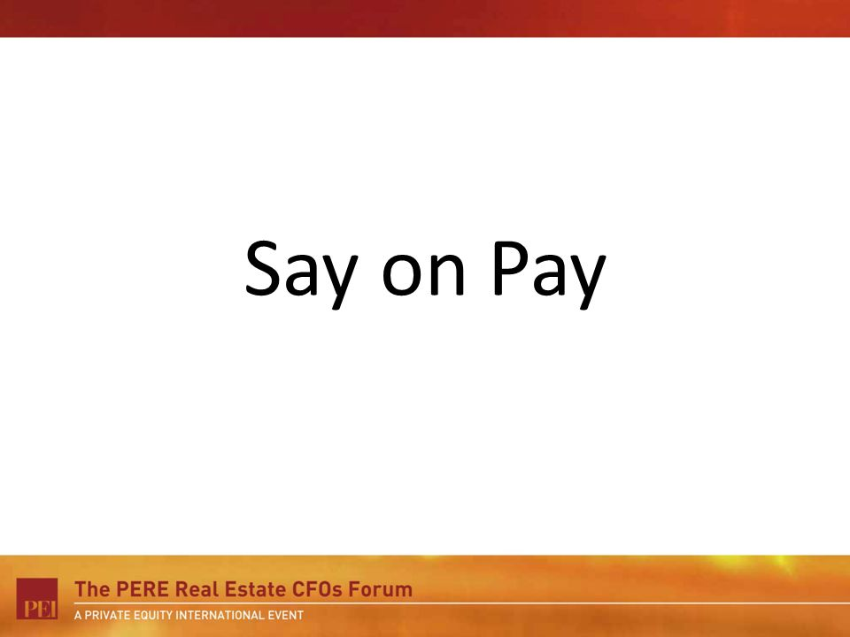 Say on Pay