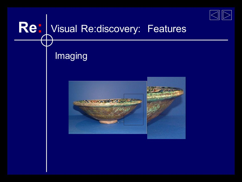 Imaging Visual Re:discovery: Features Re :