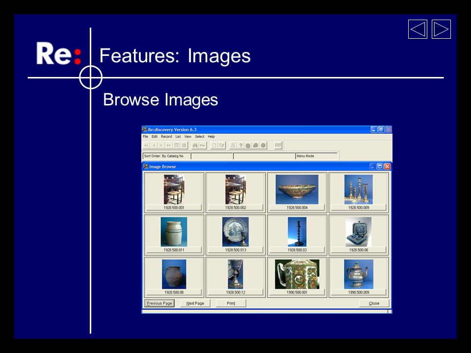 Browse Images Features: Images