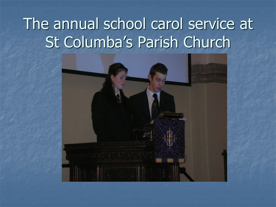 The annual school carol service at St Columbas Parish Church