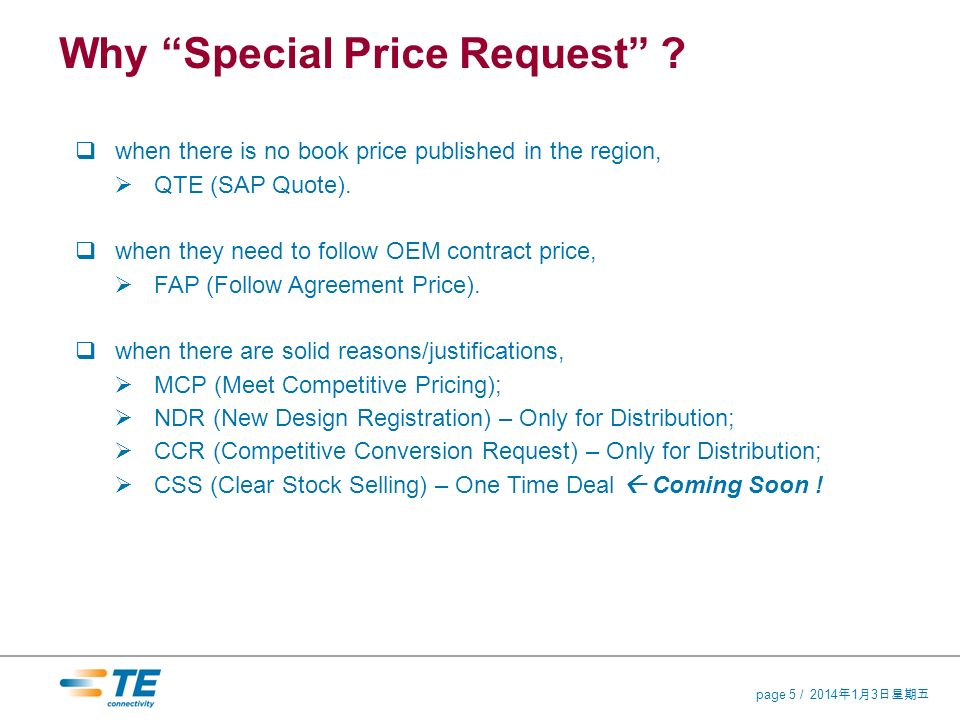201413 201413 201413 page 5 / Why Special Price Request .