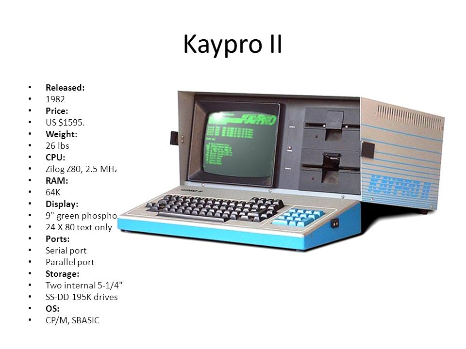Kaypro II Released: 1982 Price: US $1595.