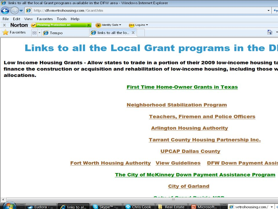 All the information on grant programs