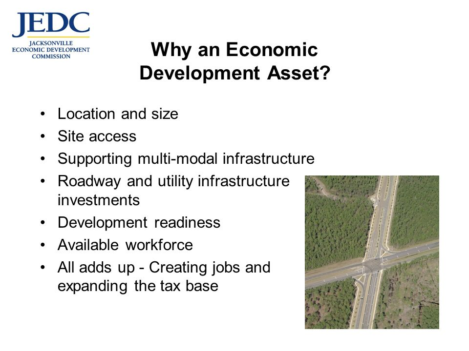 Why an Economic Development Asset.