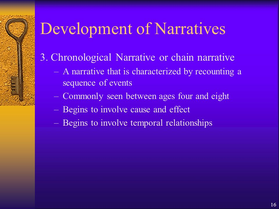 16 Development of Narratives 3.