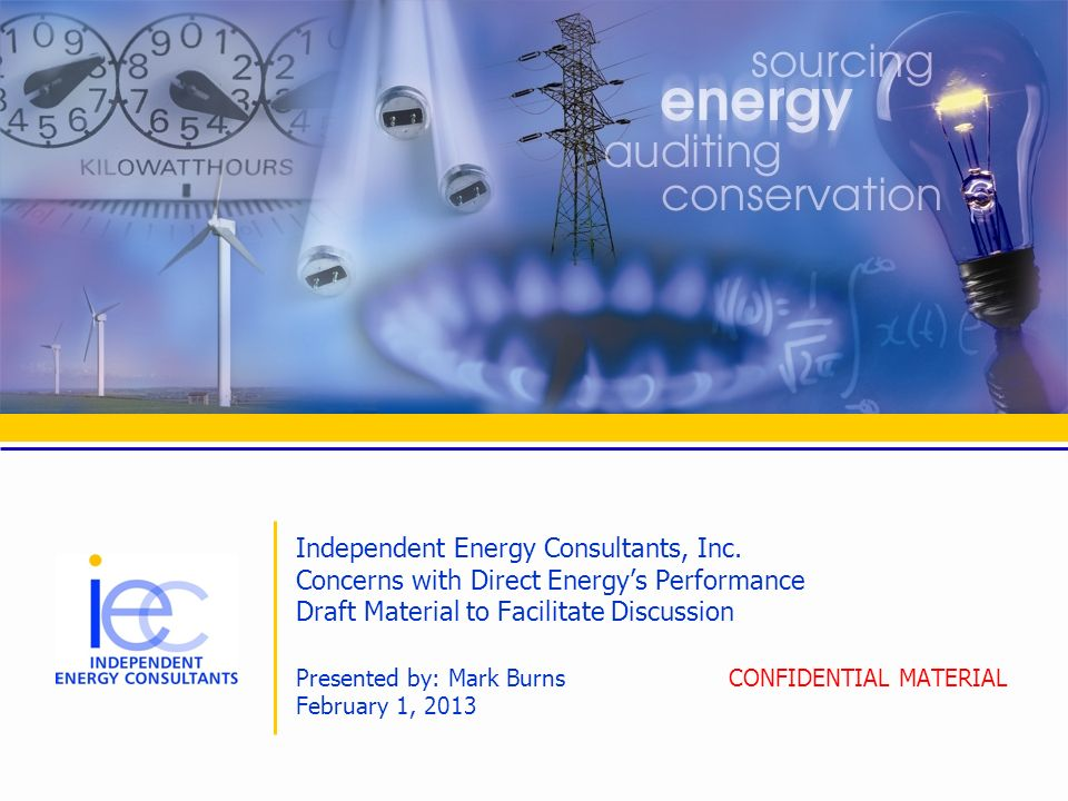 Independent Energy Consultants, Inc.