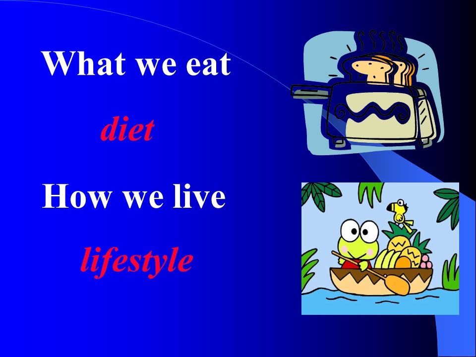 What we eat diet How we live lifestyle