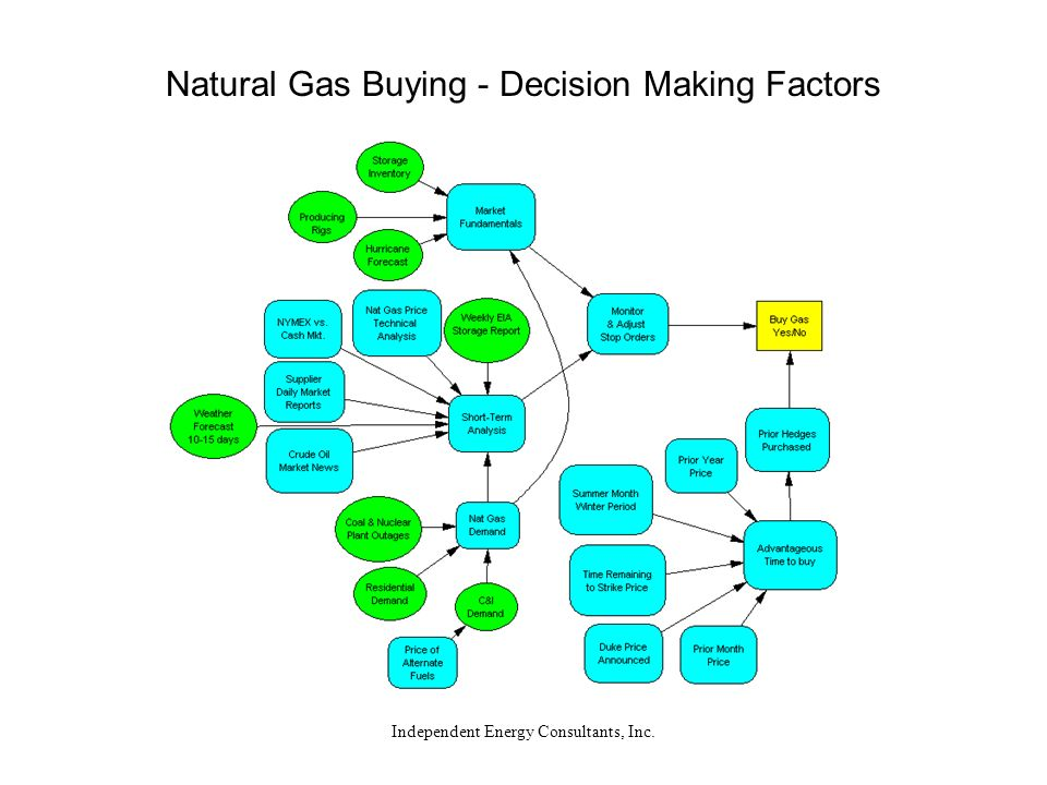 Independent Energy Consultants, Inc. Natural Gas Buying - Decision Making Factors