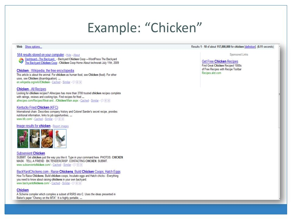 Example: Chicken