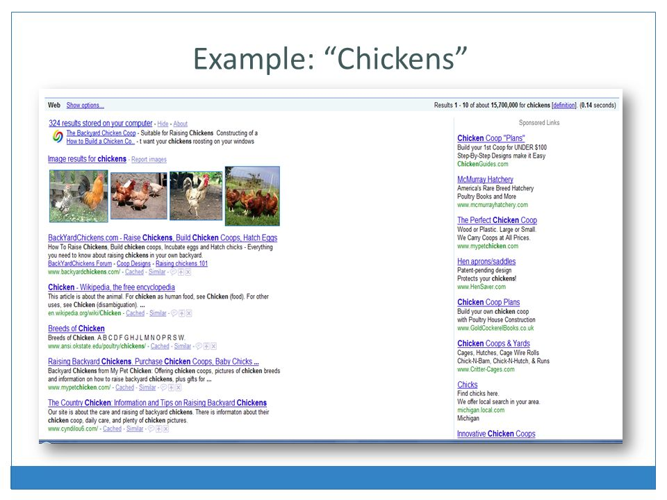 Example: Chickens
