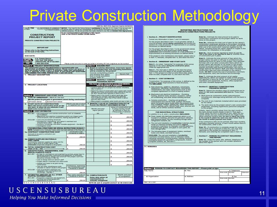 11 Private Construction Methodology