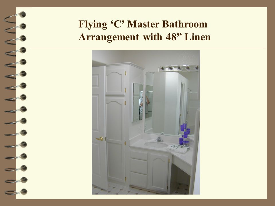 Flying C Master Bathroom Arrangement with 48 Linen