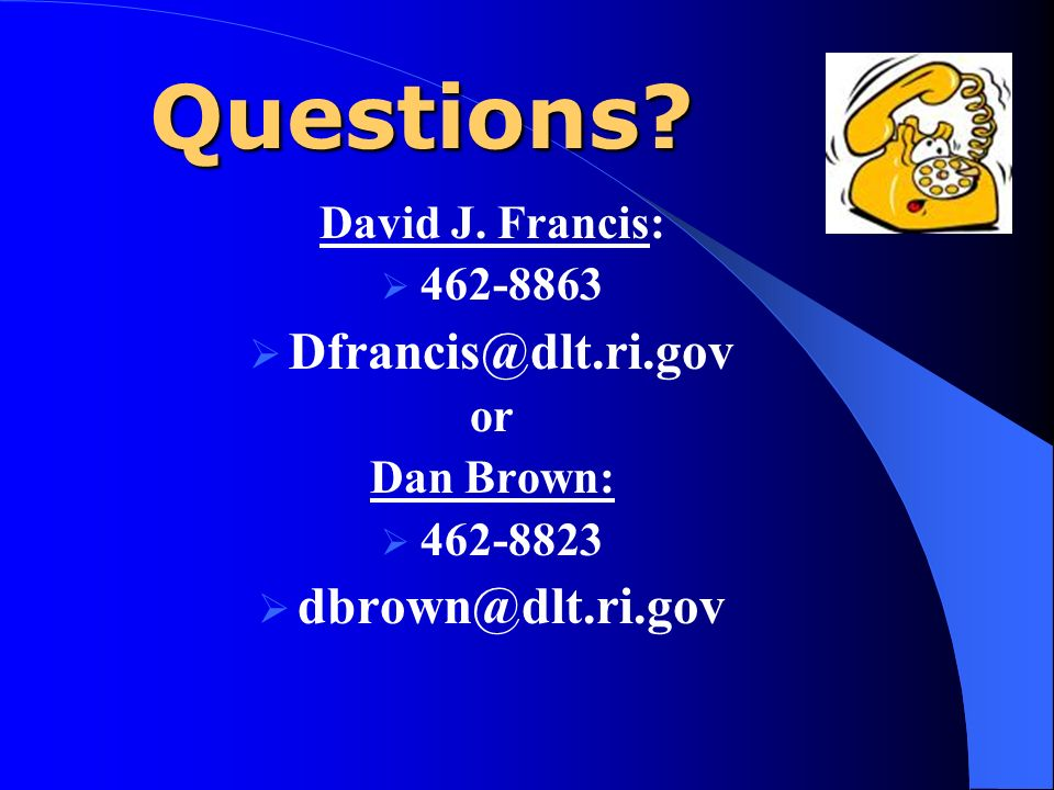 Questions David J. Francis: or Dan Brown: