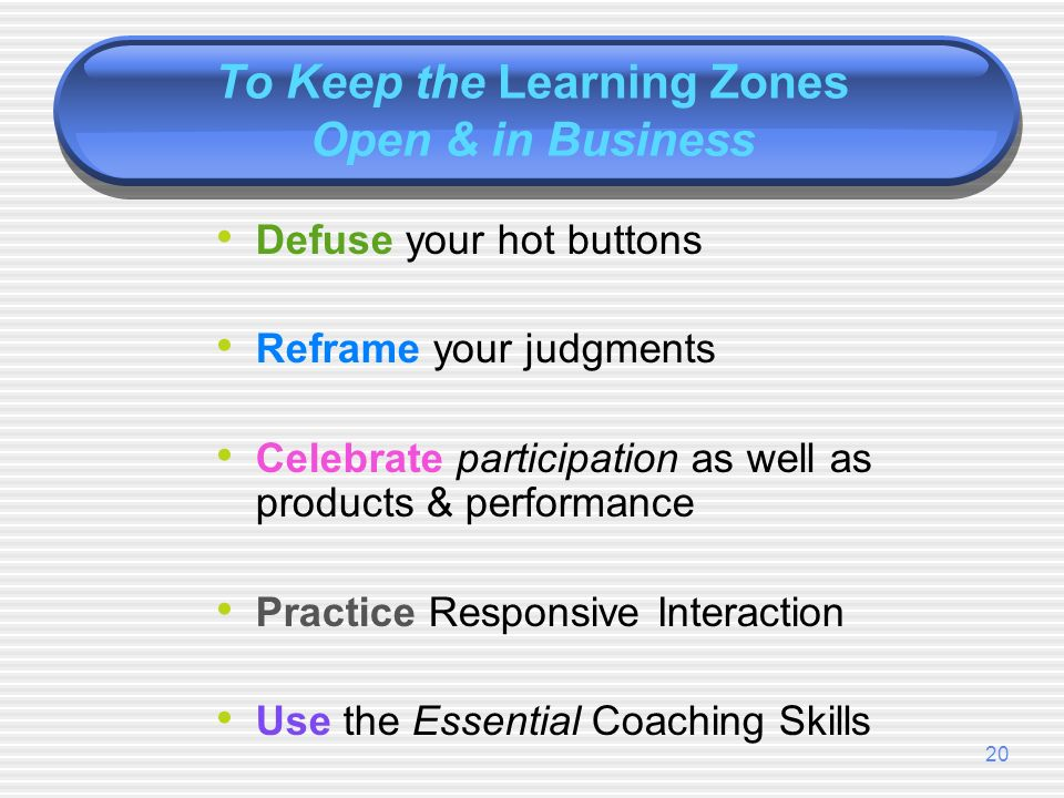 19 Why/How Do the Learning Zones Shut Down .