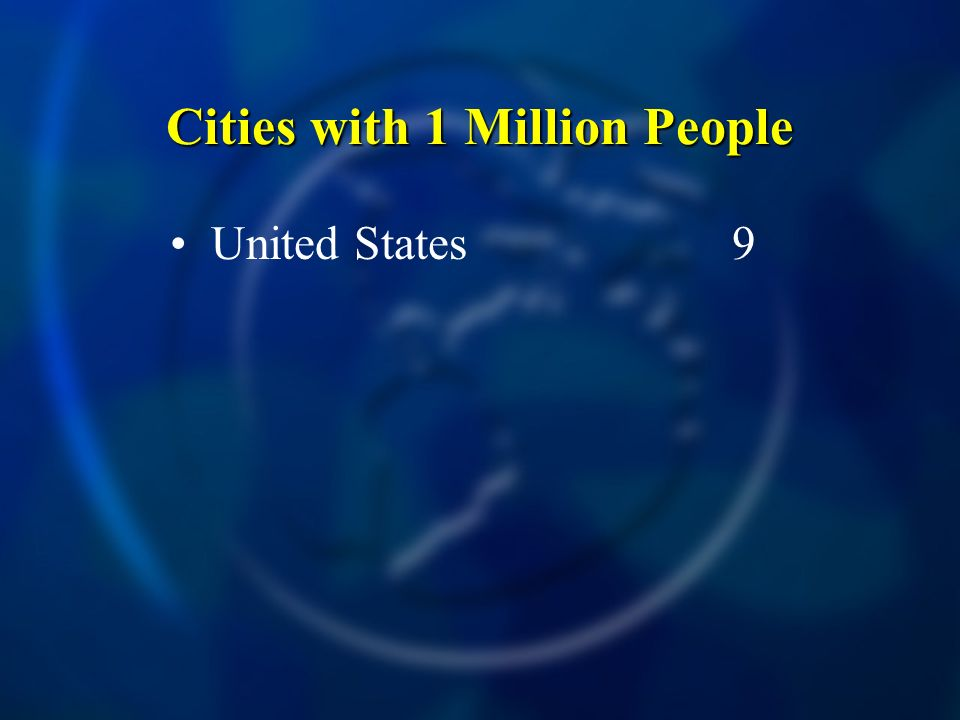 Cities with 1 Million People United States9