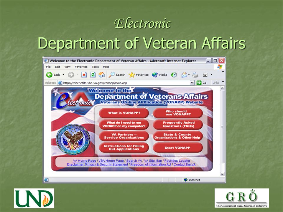 Electronic Department of Veteran Affairs