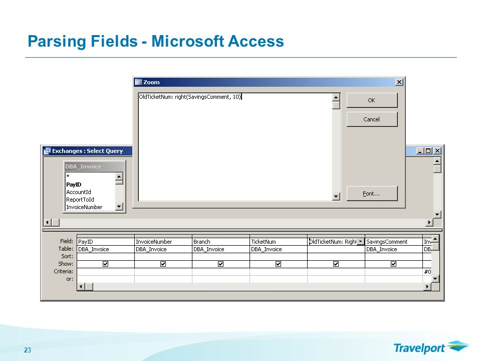 23 Parsing Fields - Microsoft Access
