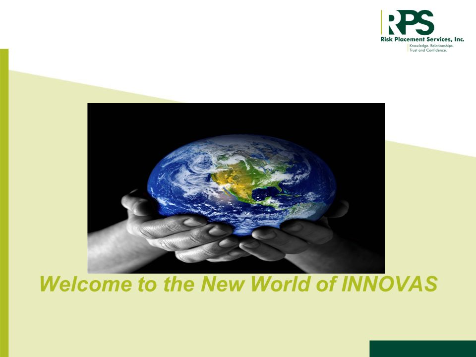 Welcome to the New World of INNOVAS