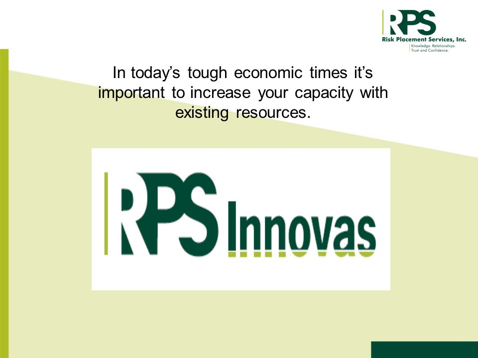 In todays tough economic times its important to increase your capacity with existing resources.