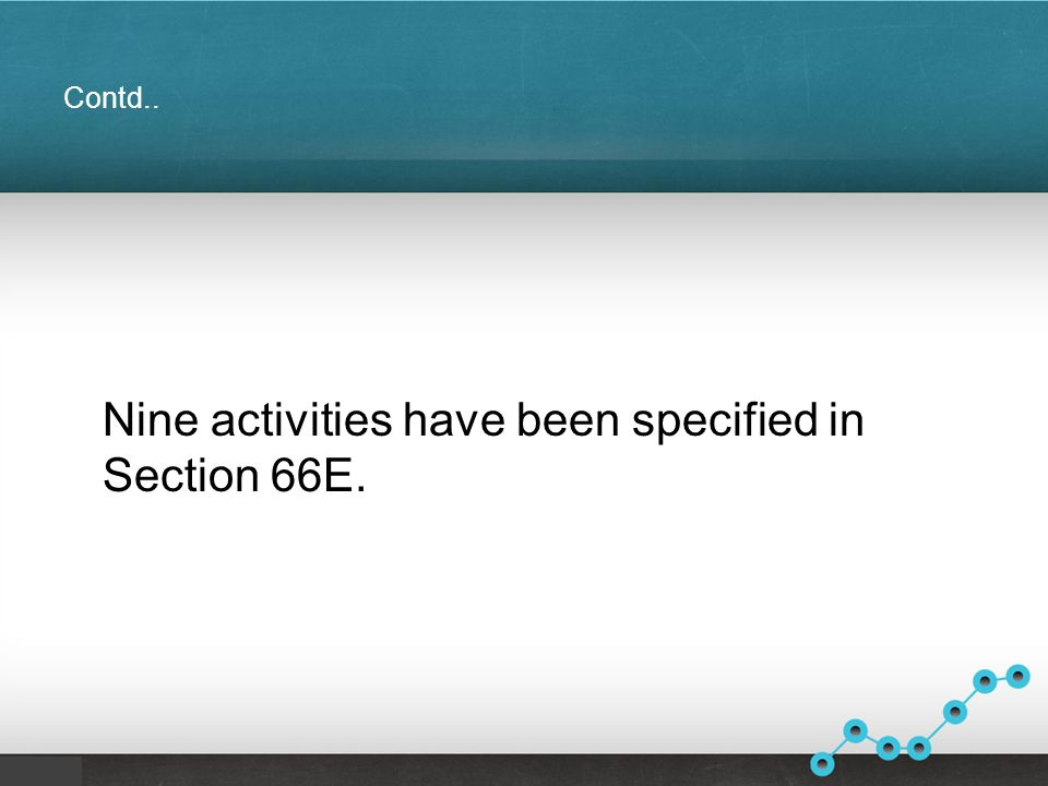 Contd.. Nine activities have been specified in Section 66E.