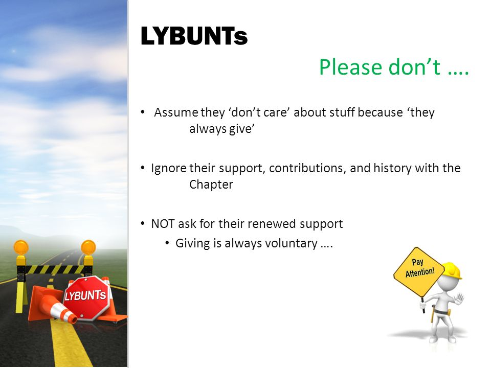 LYBUNTs Please dont ….