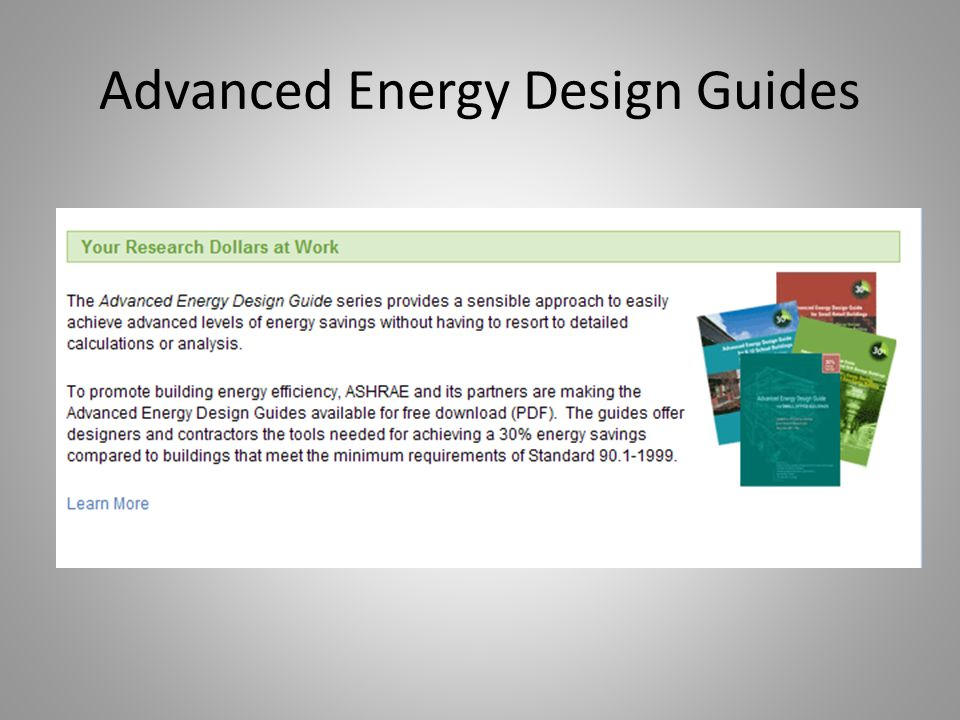 Advanced Energy Design Guides
